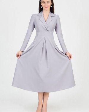 Платье серое с запахом Grey Cat