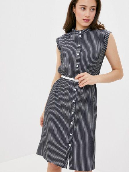 Платье платье-рубашка черное Remix