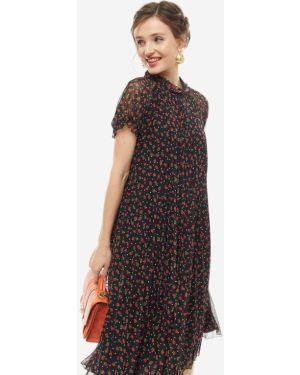Платье с цветочным принтом плиссированное Vera Moni