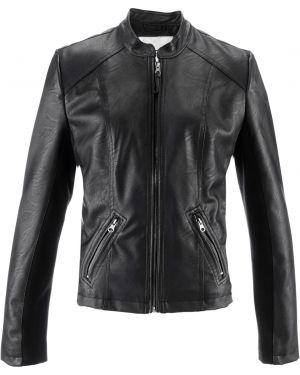 Кожаная куртка черная джинсовая Bonprix