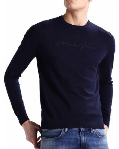Sweter - niebieski Armani Jeans