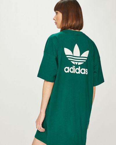 Платье макси прямое трикотажное Adidas Originals