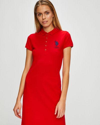 Платье мини однотонное прямое U.s. Polo
