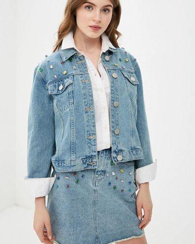 Джинсовая куртка весенняя голубая Glamorous