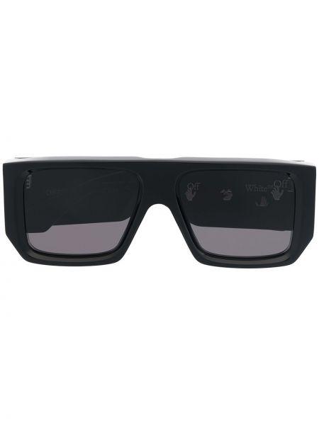 Прямые черные солнцезащитные очки прямоугольные Off-white