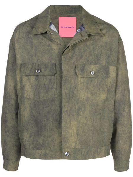 Klasyczna zielona klasyczna koszula z nylonu Rochambeau