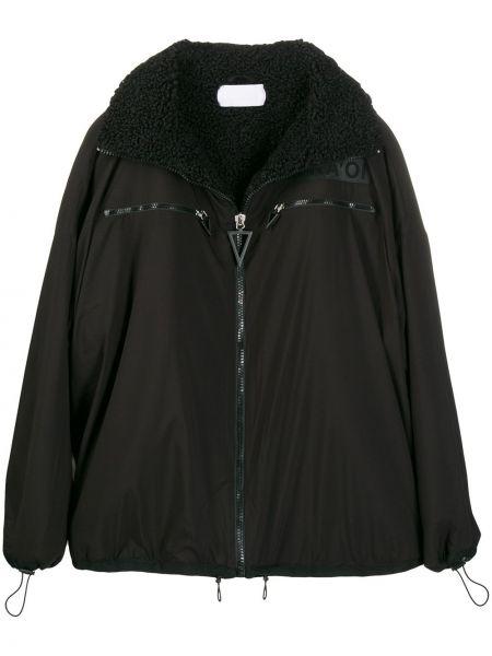 Черная куртка оверсайз на молнии No Ka 'oi