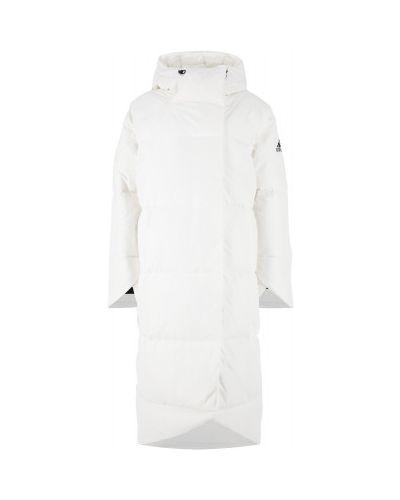Пуховое пальто - белое Adidas