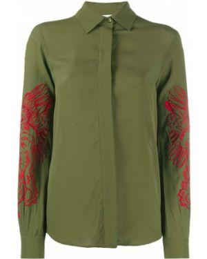 Рубашка с длинным рукавом с вышивкой на пуговицах Moschino