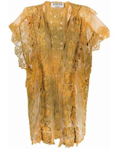 Хлопковая желтая куртка винтажная A.n.g.e.l.o. Vintage Cult