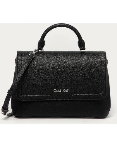 Czarna torba z krótkimi uchwytami Calvin Klein