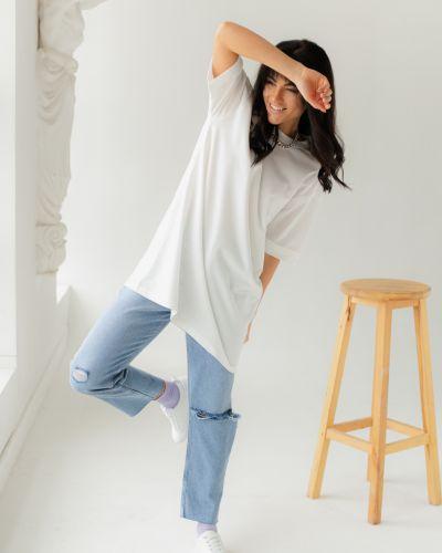 Белая футболка Clew