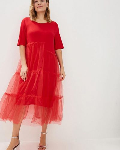 Вечернее платье красный осеннее Zar Style