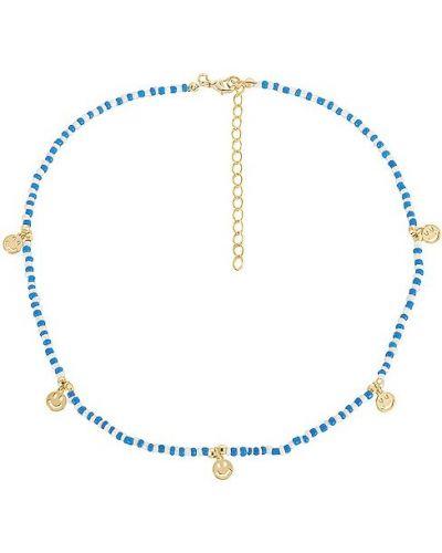 Złoty naszyjnik - biały Adinas Jewels