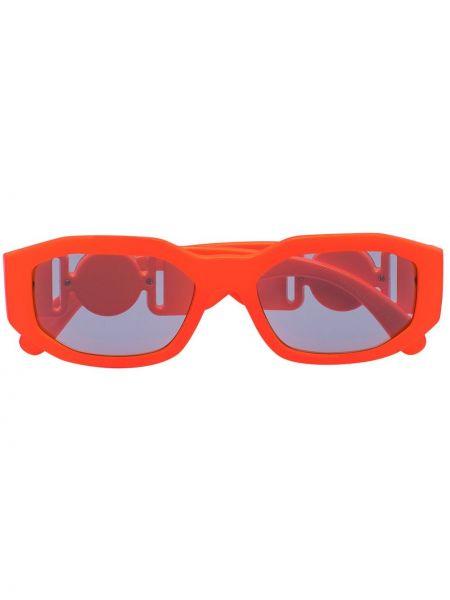 Синие муслиновые солнцезащитные очки прямоугольные Versace Eyewear