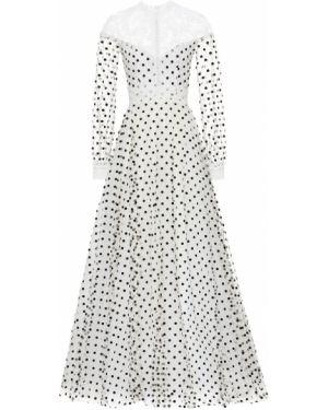 Платье из фатина в горошек Costarellos
