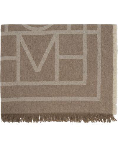 Шерстяной шарф - коричневый Toteme