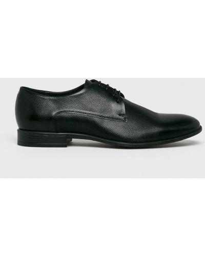 Туфли на шнуровке текстильные черные Gino Rossi
