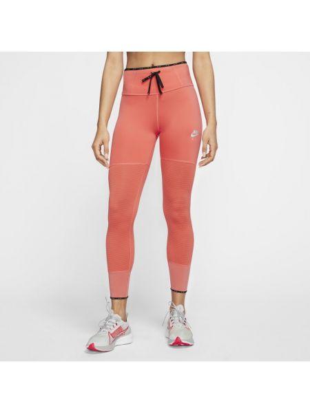Ze sznurkiem do ściągania czerwony z wysokim stanem światło legginsy Nike