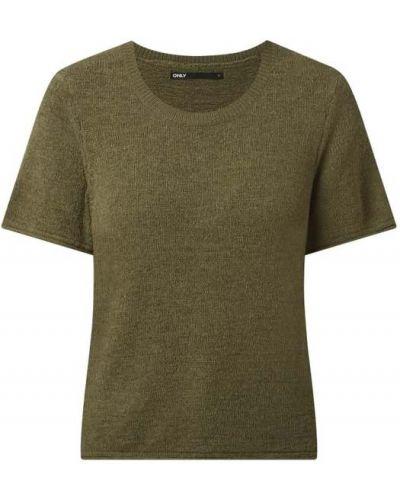 Zielona bluzka krótki rękaw dzianinowa Only