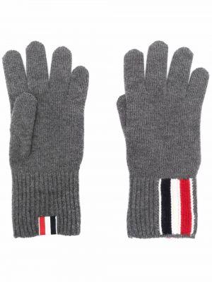 Rękawiczki wełniane - białe Thom Browne