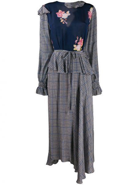 Асимметричное платье миди Preen Line