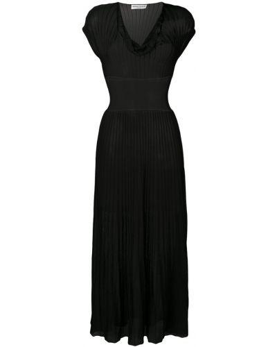 Приталенное платье миди - черное Sonia Rykiel