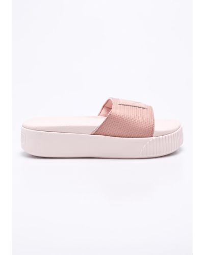 Розовые сандалии на танкетке Puma