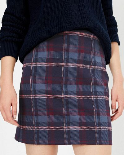Синяя юбка карандаш с рукавом 3/4 Marks & Spencer