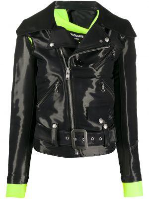 Нейлоновая черная куртка байкерская на молнии Junya Watanabe
