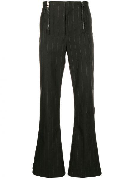 Brązowy bawełna wełniany spodnie na hakach Acne Studios