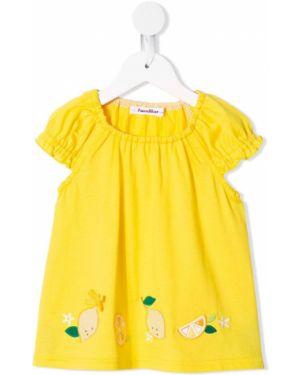 Блузка с короткими рукавами с вышивкой с вырезом Familiar