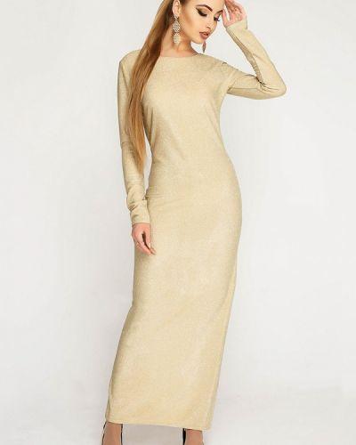 Вечернее платье осеннее золотой Leo Pride