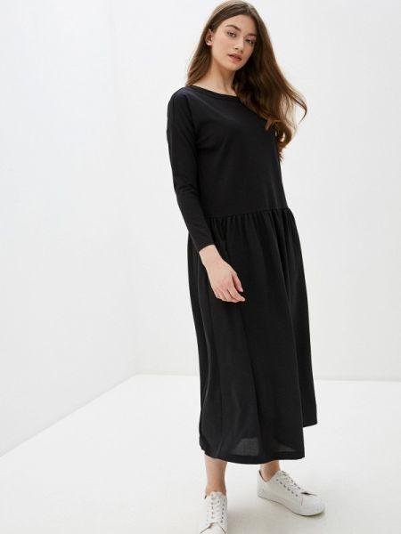 Платье прямое черное Buono