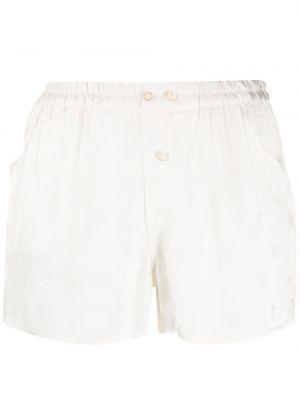 Белые шорты с карманами из вискозы Laneus