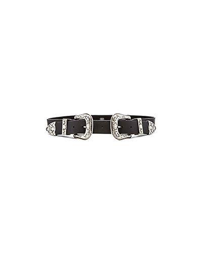 Ремень с пряжкой черный B-low The Belt