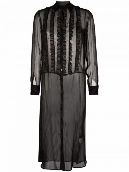 Черное шелковое платье Simonetta Ravizza