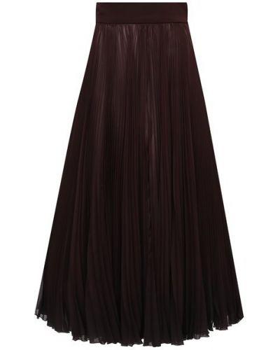 Плиссированная коричневая плиссированная юбка Dolce & Gabbana