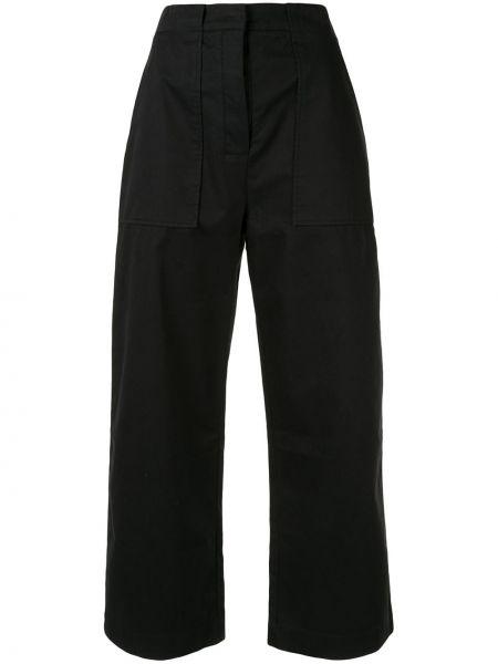 Черные свободные брюки с поясом Venroy