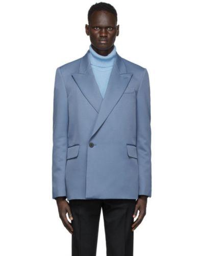 Черный пиджак с карманами с воротником с манжетами Wooyoungmi