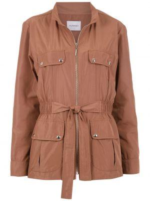 Красная куртка на молнии с карманами Olympiah