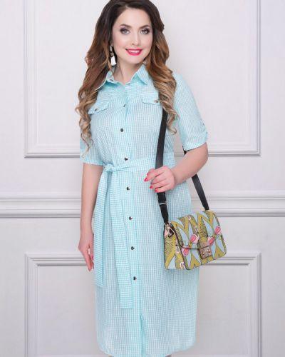 Платье с поясом платье-рубашка мятный Charutti