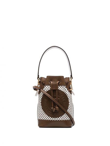 Skórzana torebka mini biznes Fendi