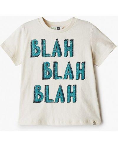 Бежевая футболка с короткими рукавами Sela