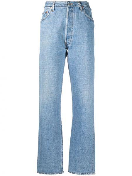 Spodni z wysokim stanem klasyczne spodnie z paskiem Re/done