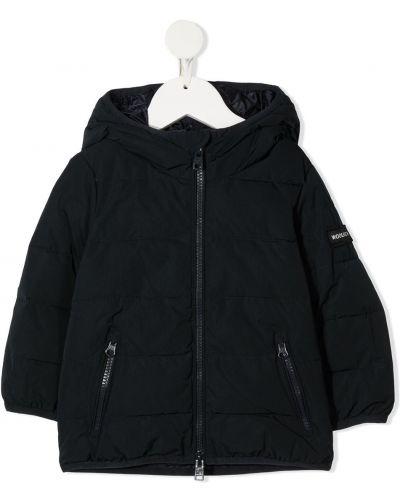Классическая с рукавами синяя куртка с капюшоном Woolrich Kids