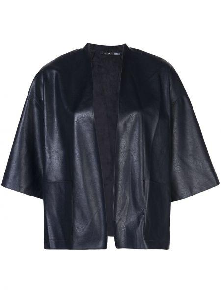 Кожаная куртка укороченная прямая Natori