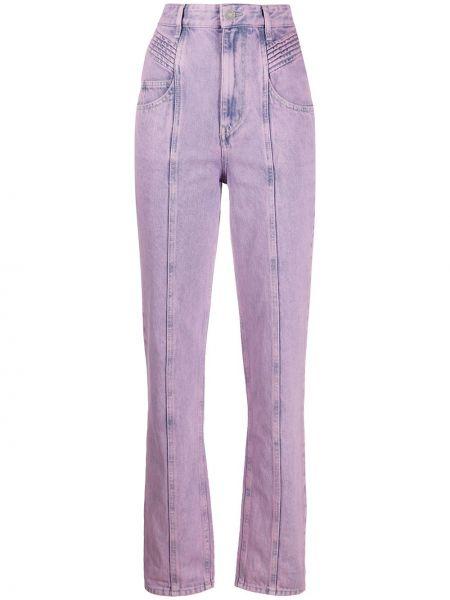 Прямые джинсы розовый на пуговицах Isabel Marant Étoile