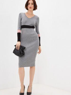 Вязаное платье - серое Moki