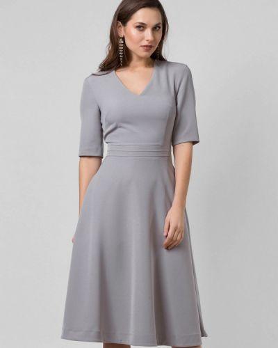 Платье серое осеннее Lova